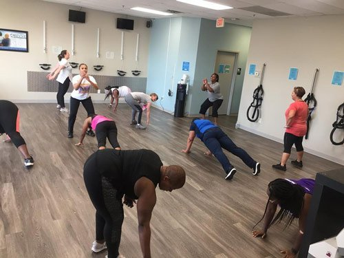 onsite functional fitness training at Mossell Holistic in Park Ridge IL.